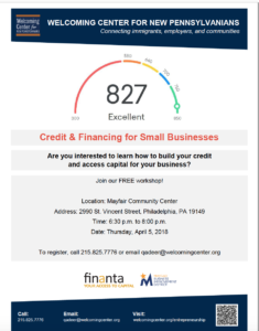 Credit and financing for small business event