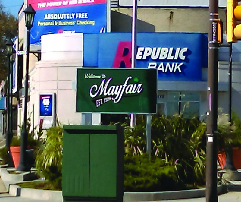 Expansion of the Mayfair Sign Plaza & Triangle