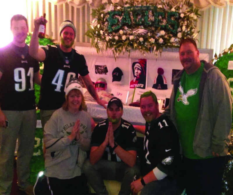 McCafferty Funeral Home Buries Eagles Memoribilia