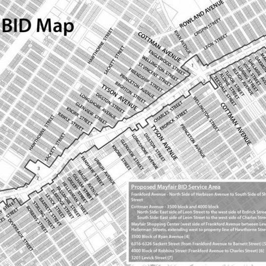 Mayfair Business Improvement District Map