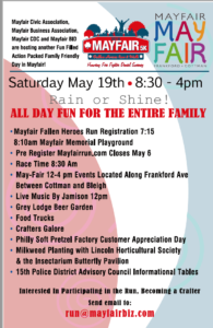 Mayfair May Fair & Fallen Heroes Run List of Events