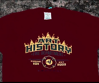 Art History 101 Firefighter T-shirt Drop