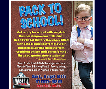 Pack To School Event at Mayfair Diner