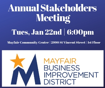 MBID Annual Stakeholders Meeting Tues Jan 22, 2019