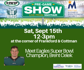 Go Birds WIP Tailgate Party with Brent Celek Live from Mayfair
