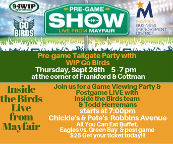 Mayfair Eagles Tailgate & Game Watching Party
