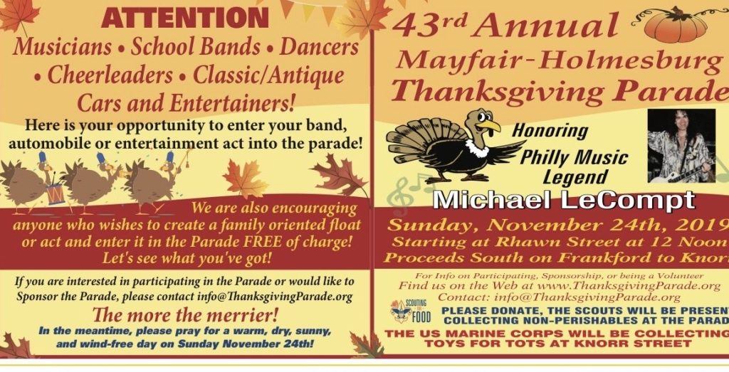 43rd Annual Mayfair-Holmesburg Thanksgiving Parade