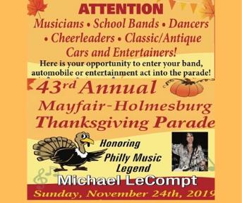 43rd annual Mayfair-Holmesburg Thanksgiving Parade